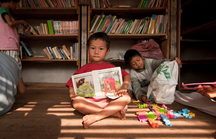Bibliotek, Safe Haven Orphanage, Ban Tha Song Yang, Thailand