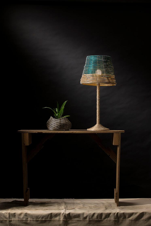 Noothera Table Lamp Turquoise Sala Verde Est Magazine copy