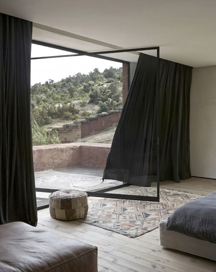 Est Magazine Villa E Morocco by Studio KO Curtain