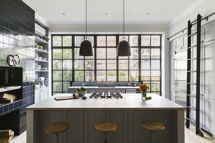 Kitchen | New York Brownstone by Elizabeth Roberts