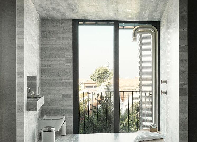 Bathroom: Tel Aviv Apartment by Oren Yonayov