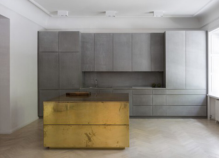 Richard Lindvall Gold Grey Apartment est living featured
