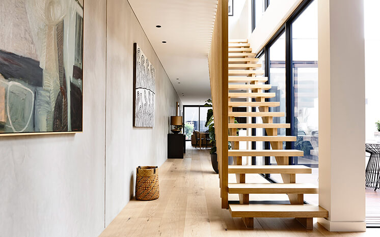Elwood House Inform Design Est Living Stairs