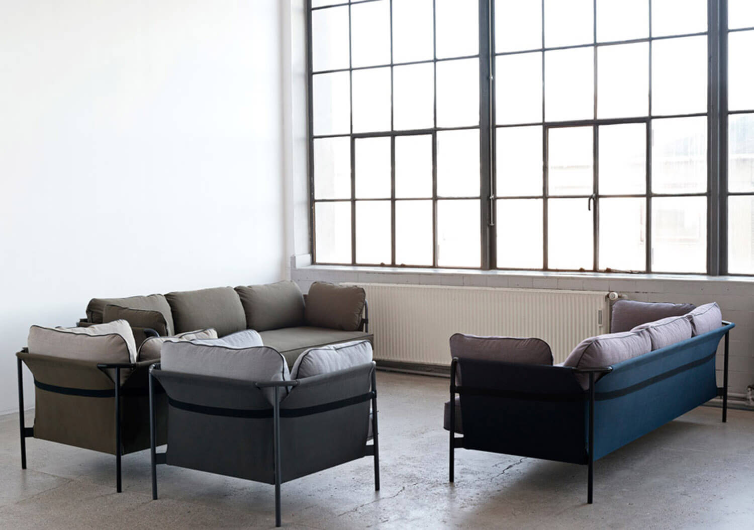 Est Living Bouroullec for Hay Can Sofa Set
