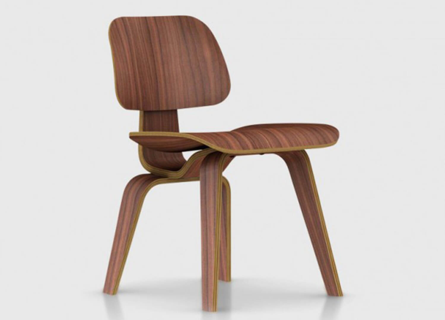 Moulded plywood walnut Herman miller Est living