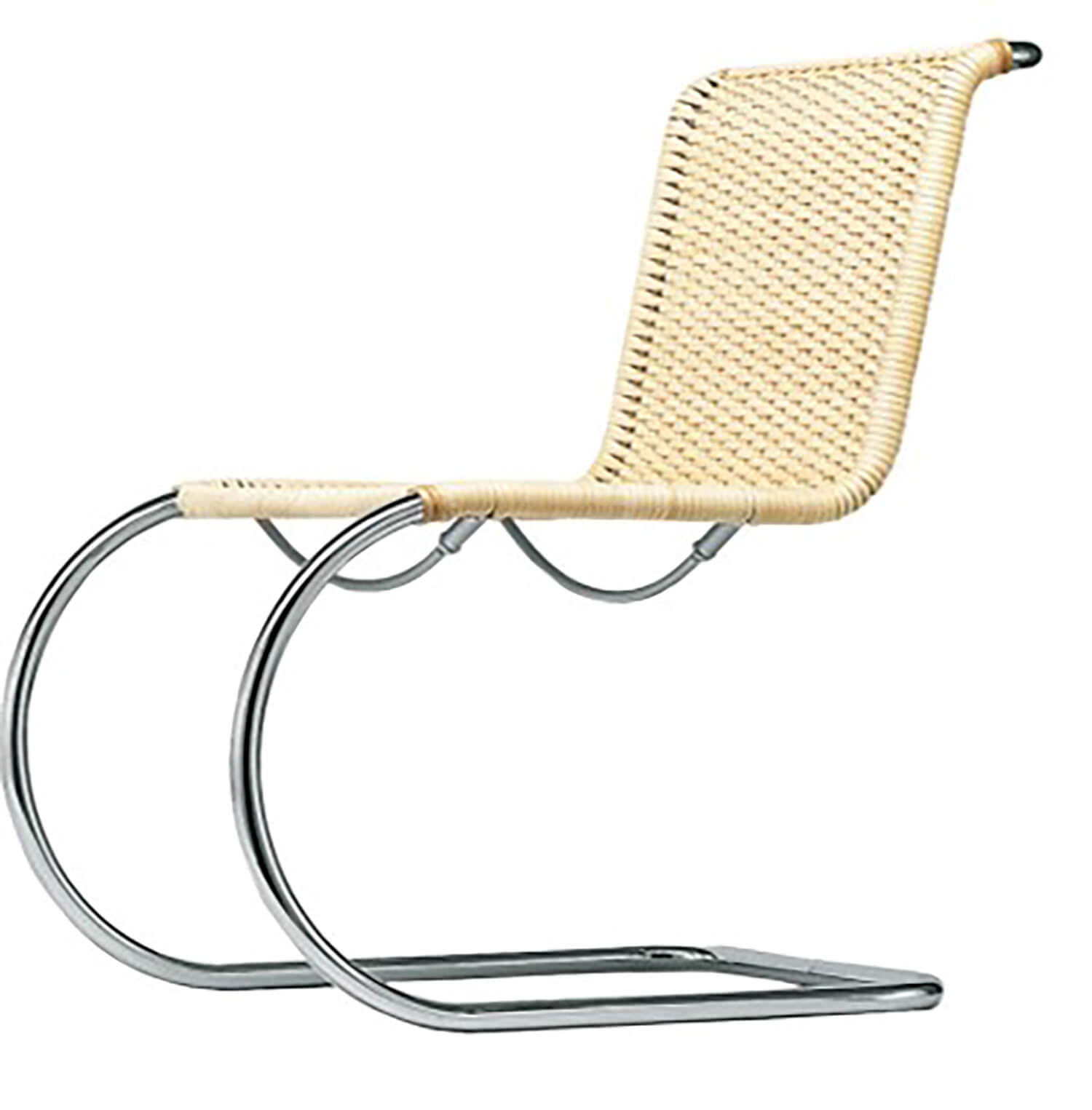 7.Est Living Wickedly Wickered Dedece Ludwig Mies Van der Rohe MR Side Chair