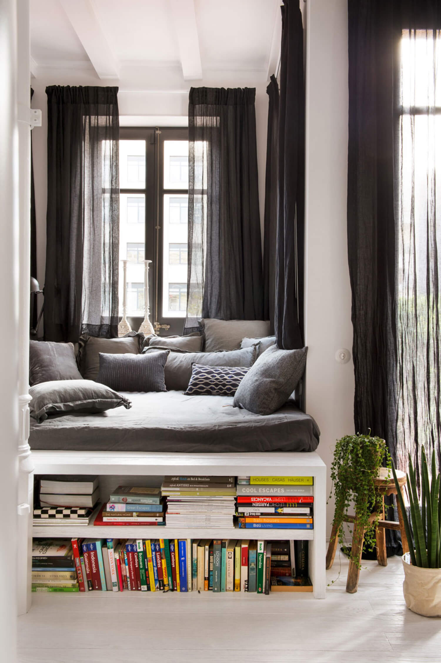 reading nook studio apartment