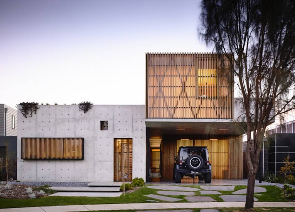 Concrete House | Front Entrance | Auhaus Architecture |Est Living