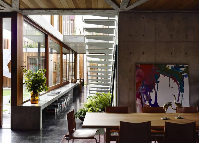 est living concrete house auhaus architects dining