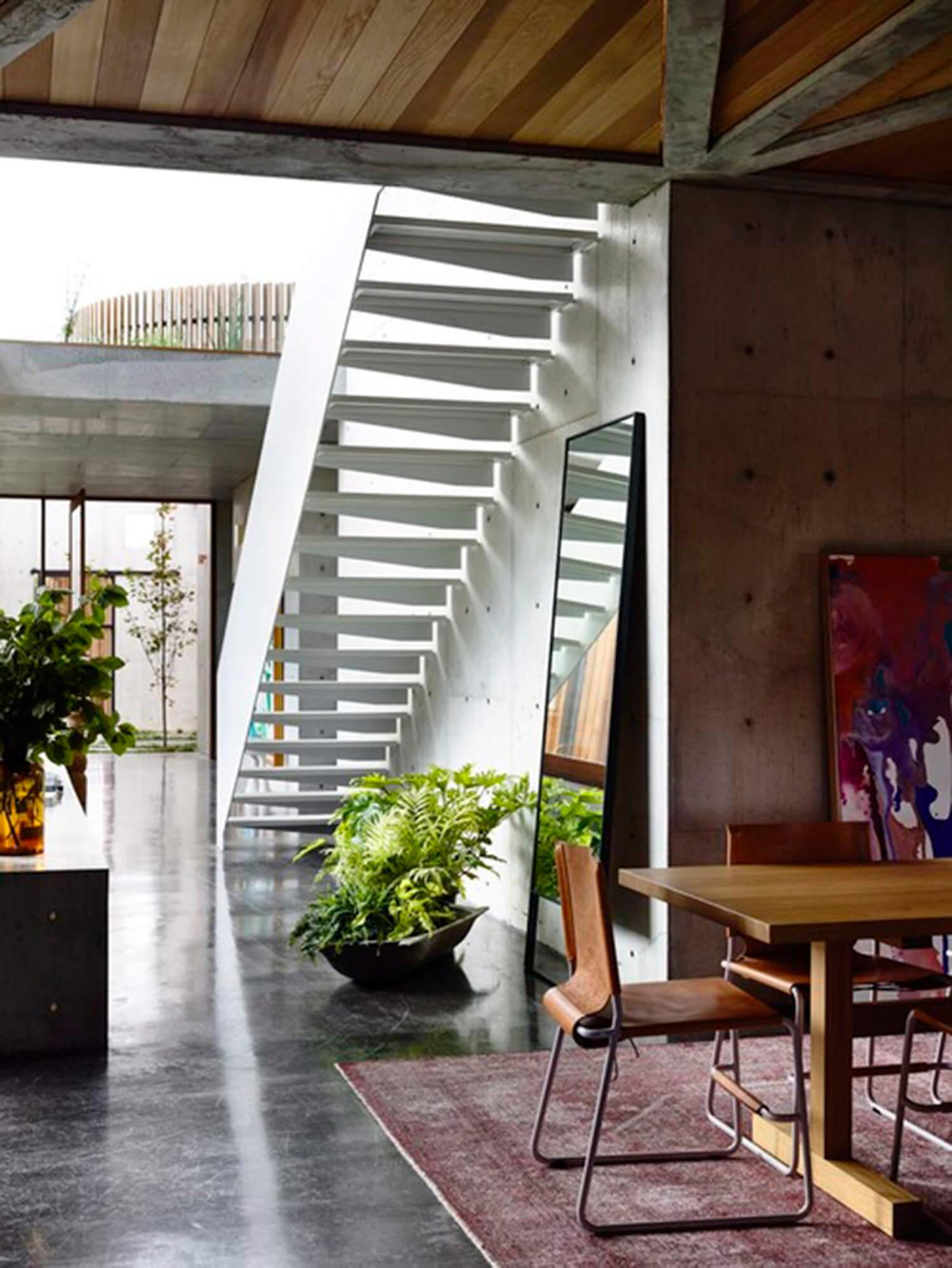 est living concrete house auhaus architects stairs