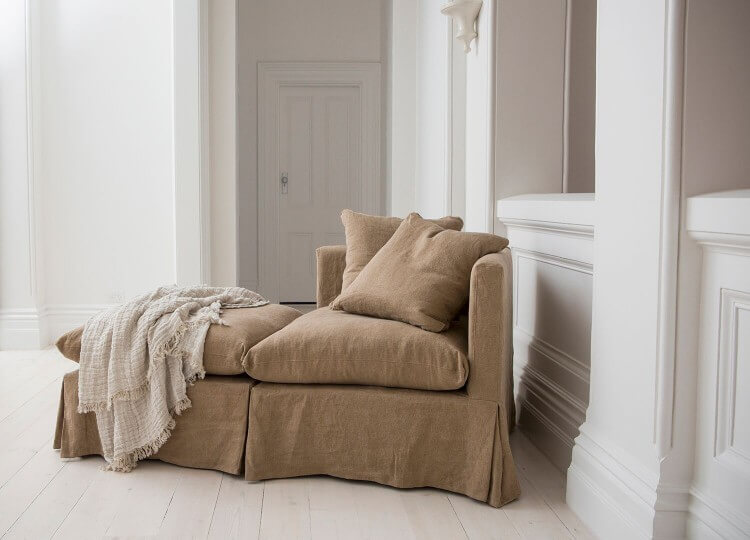 Ligo Corner Chair in Linen | Hale Mercantile