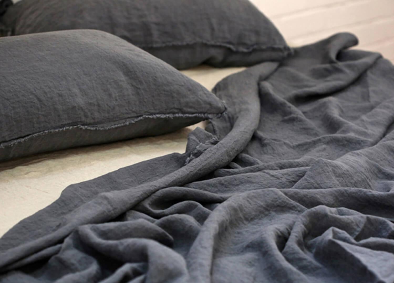 est living hale mercantile linen flat sheet tempest flocca