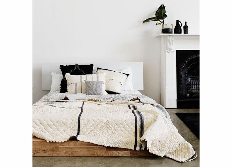 Injiri 45 Quilt in Cream | Spence & Lyda
