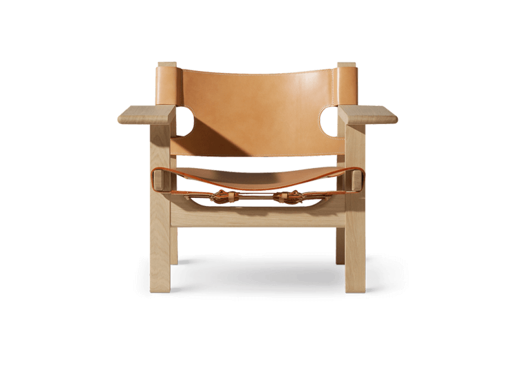 The Spanish Chair in Natural Leather by Børge Mogensen for Fredericia | Est Living Design Directory