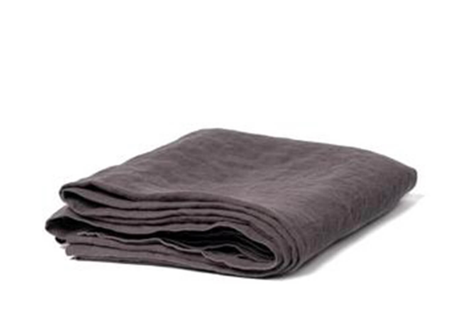 Flat Linen Sheet in Lead | Est Essentials Collection