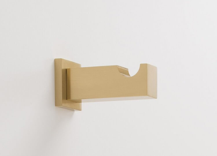Breymen Wall Hook in Brass from Schoolhouse Electric & Co | Est Living Design Directory