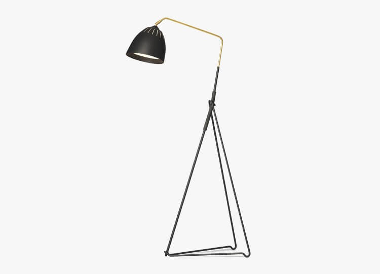 Lean Floor Light in Black | Great Dane Furniture