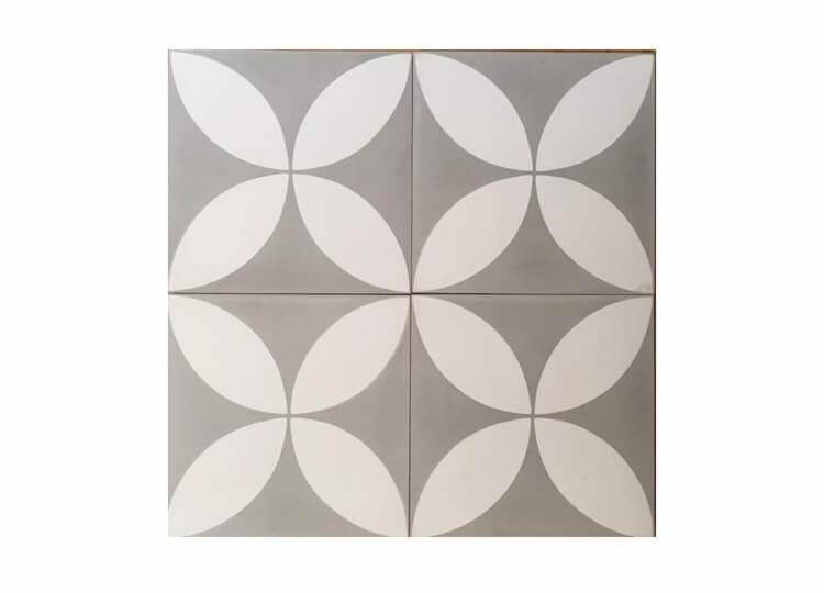 Grey Fleurs Tile | Jatana Interiors | Est Living Design Directory