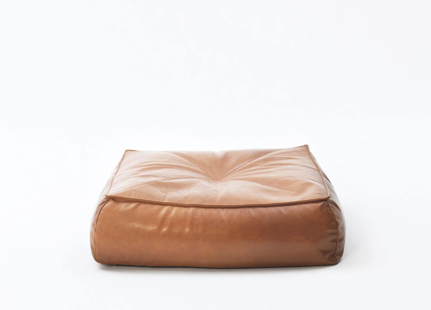 Alby Leather Floor Cushion | Jardan