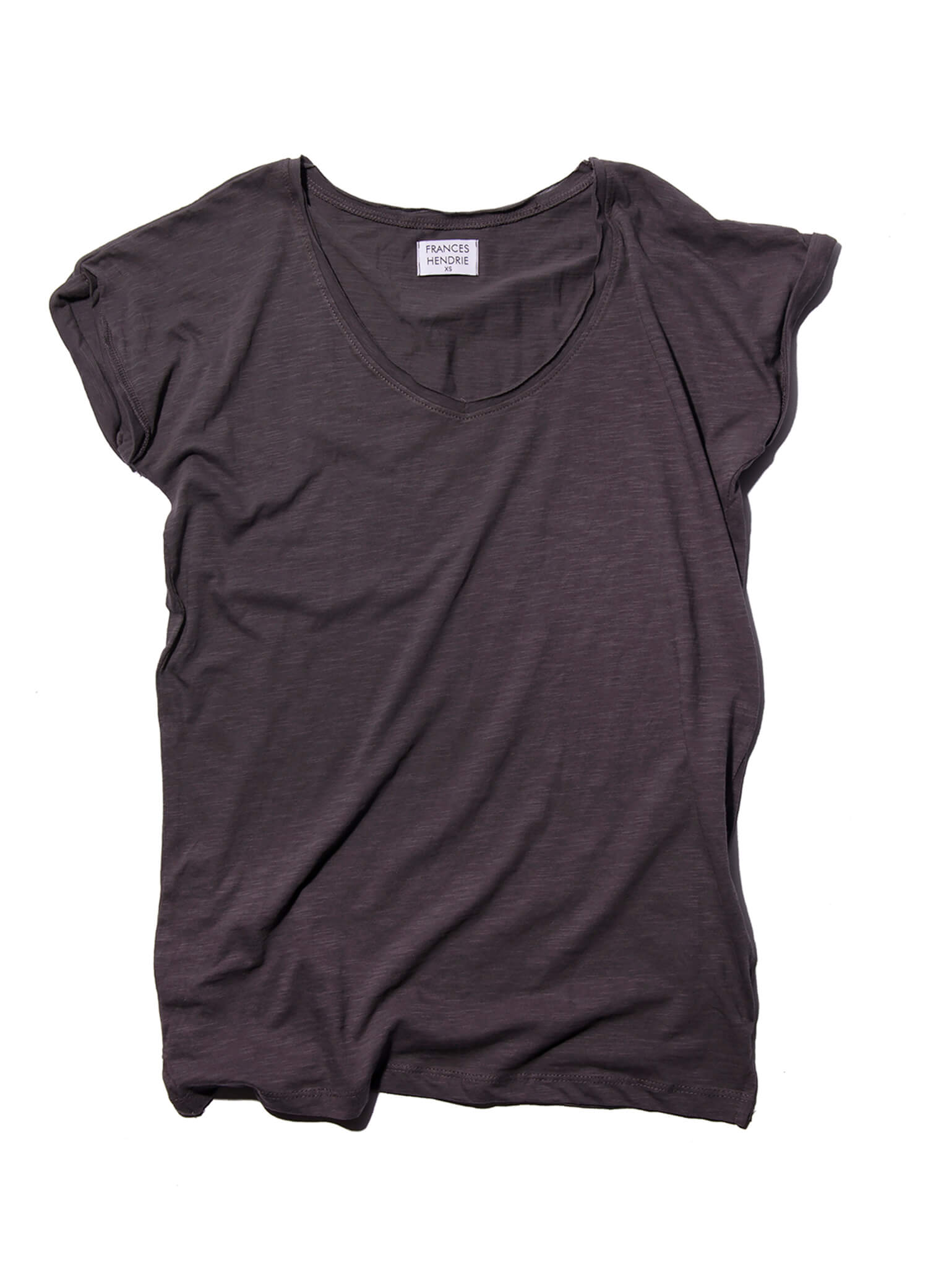 mum on the run est essentials vneck tee frances hendrie.blackjpg copy