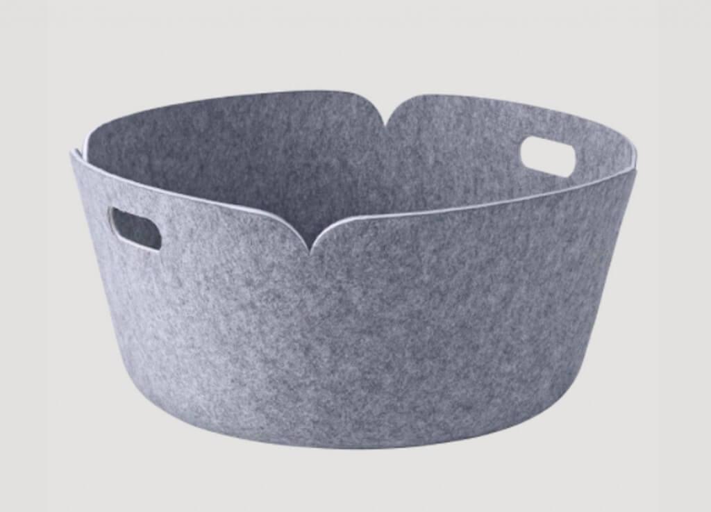 Muuto Restore Round Basket | Winter Wool & Felt