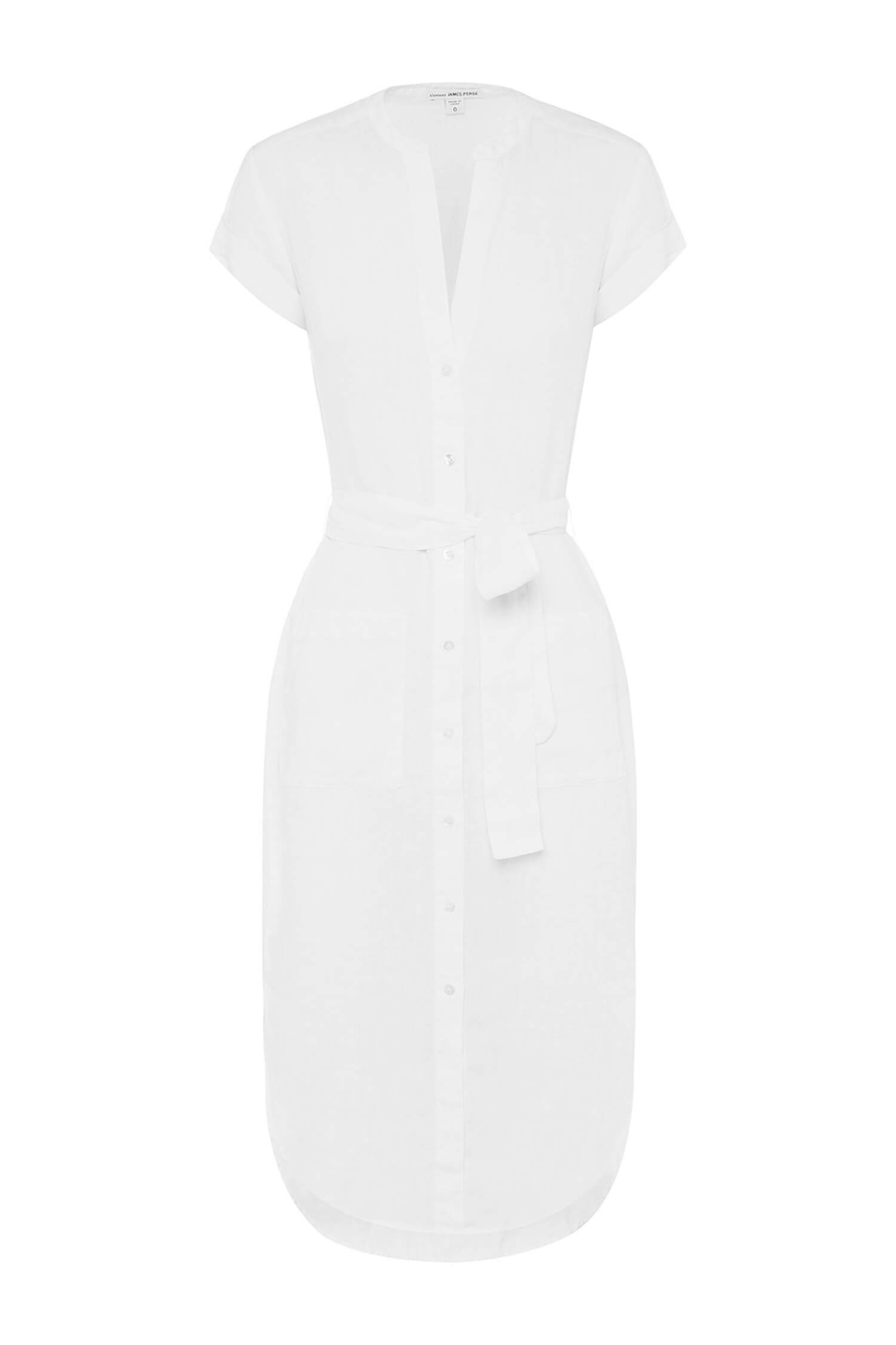 est living gift guide her linen white shirt dress