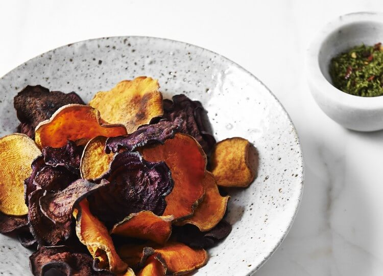 The Beauty Chef recipes |  sweet potato chips with matcha salt | est living