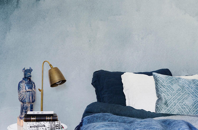 est living wallpaper wonders lemon blue watercolour wallpaper 1