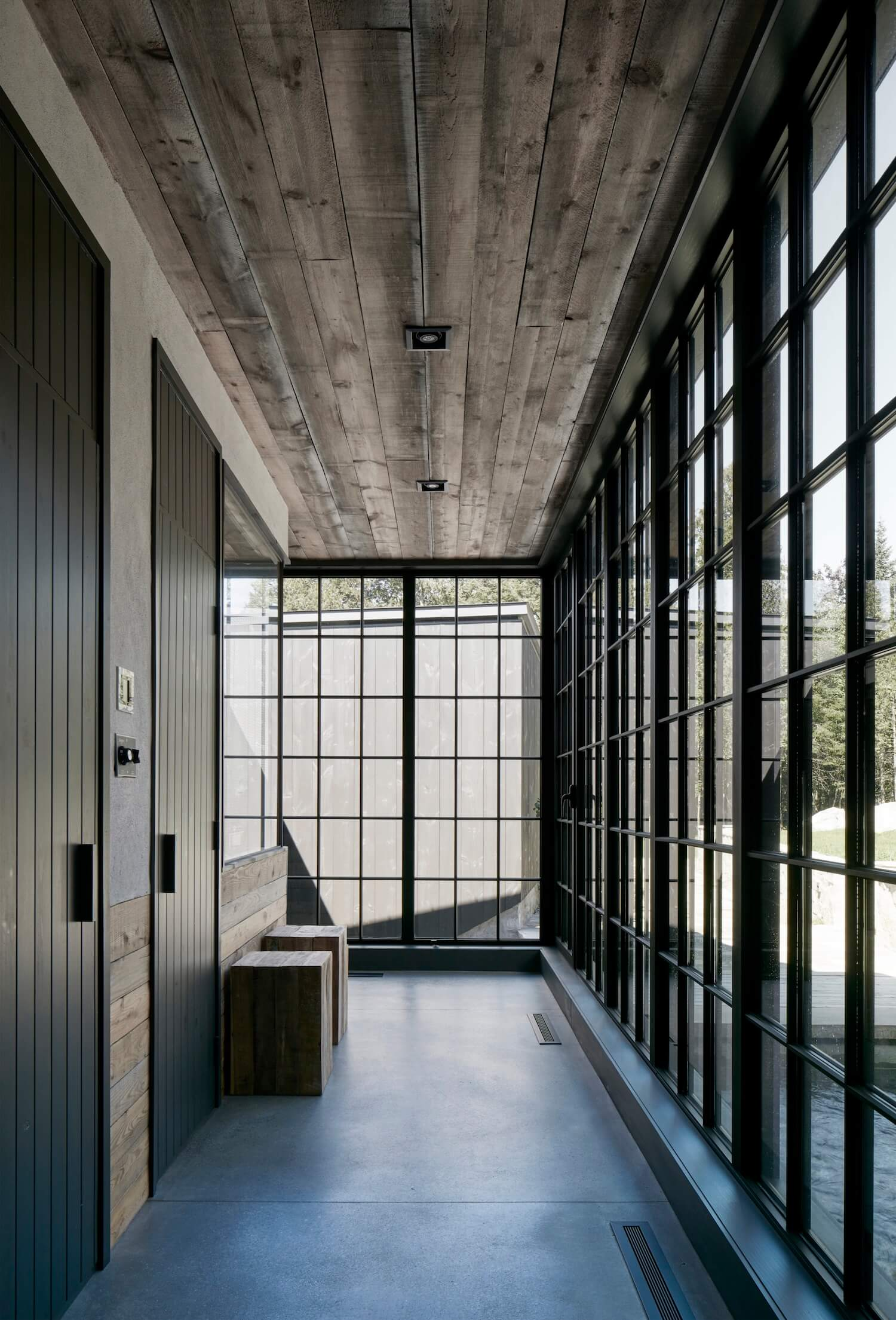 Interior of MG2 House, Quebec | Alain Carle Architects | est living