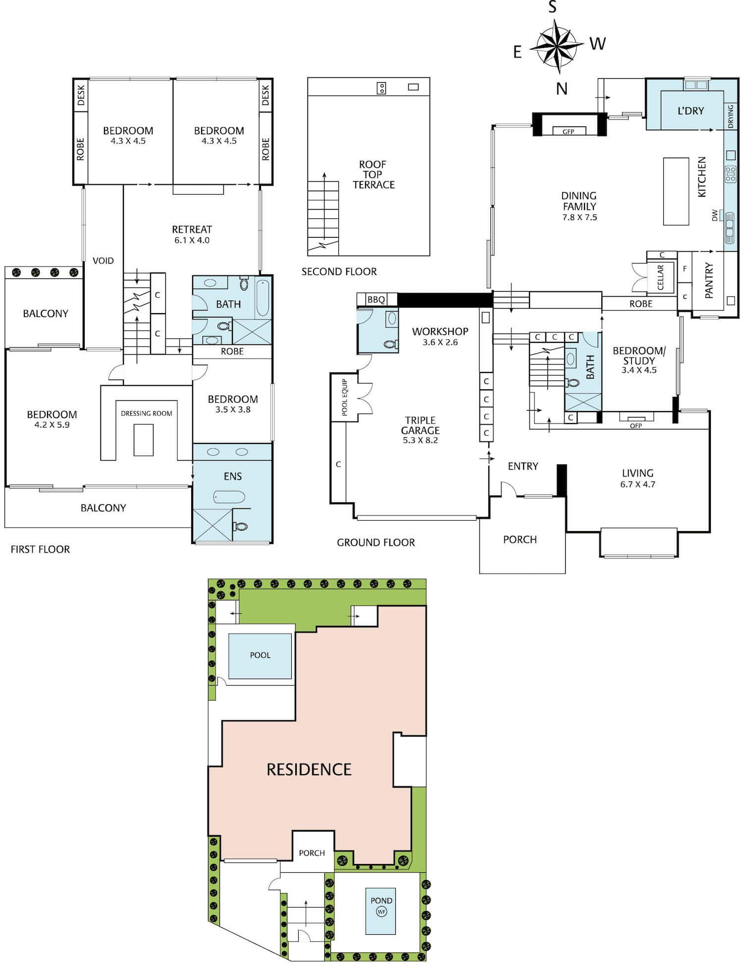 est living open house 14viewstreet hawthorn jellis craig floorplan
