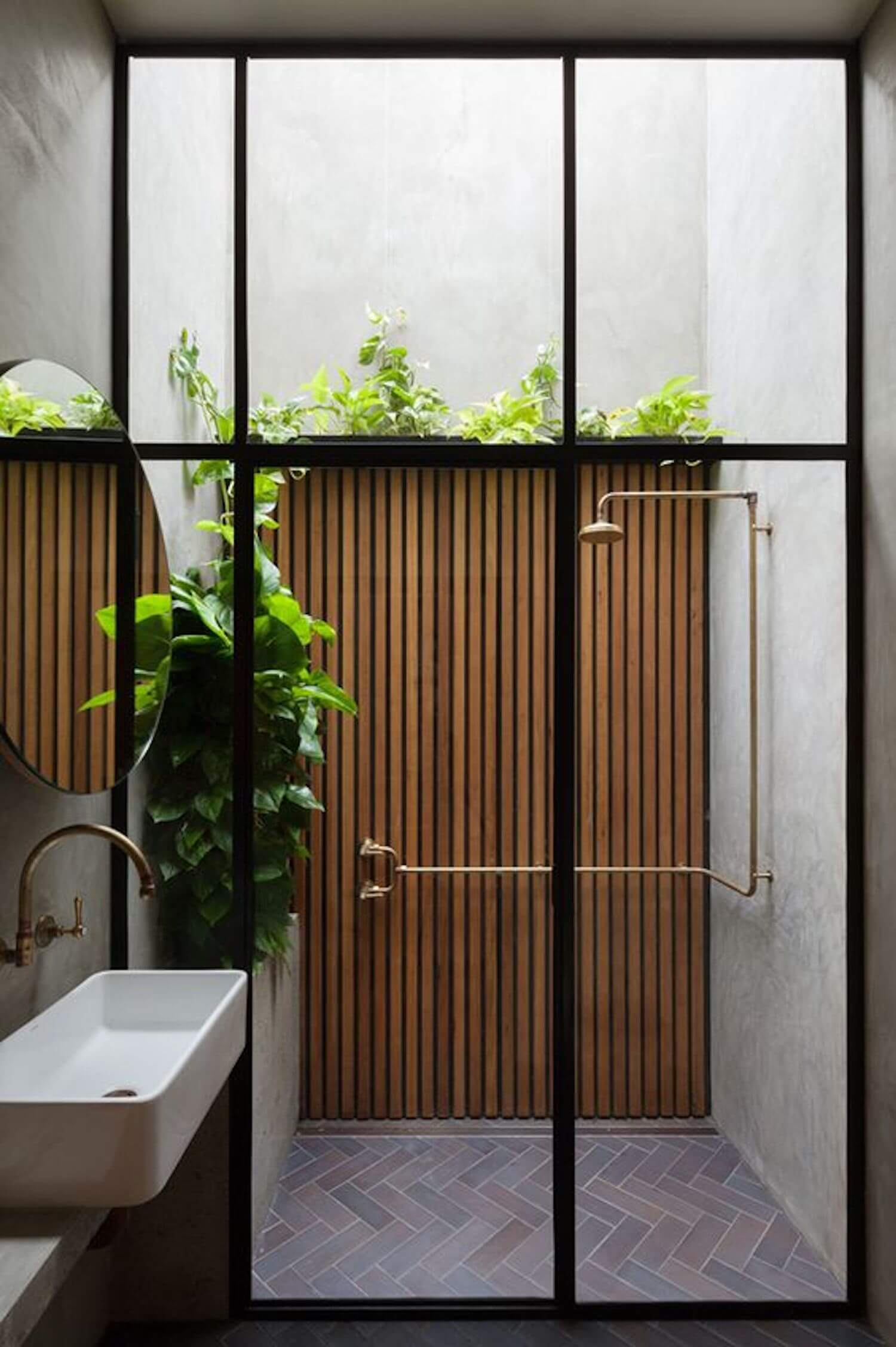est living outdoor showers breathe architecture double life house