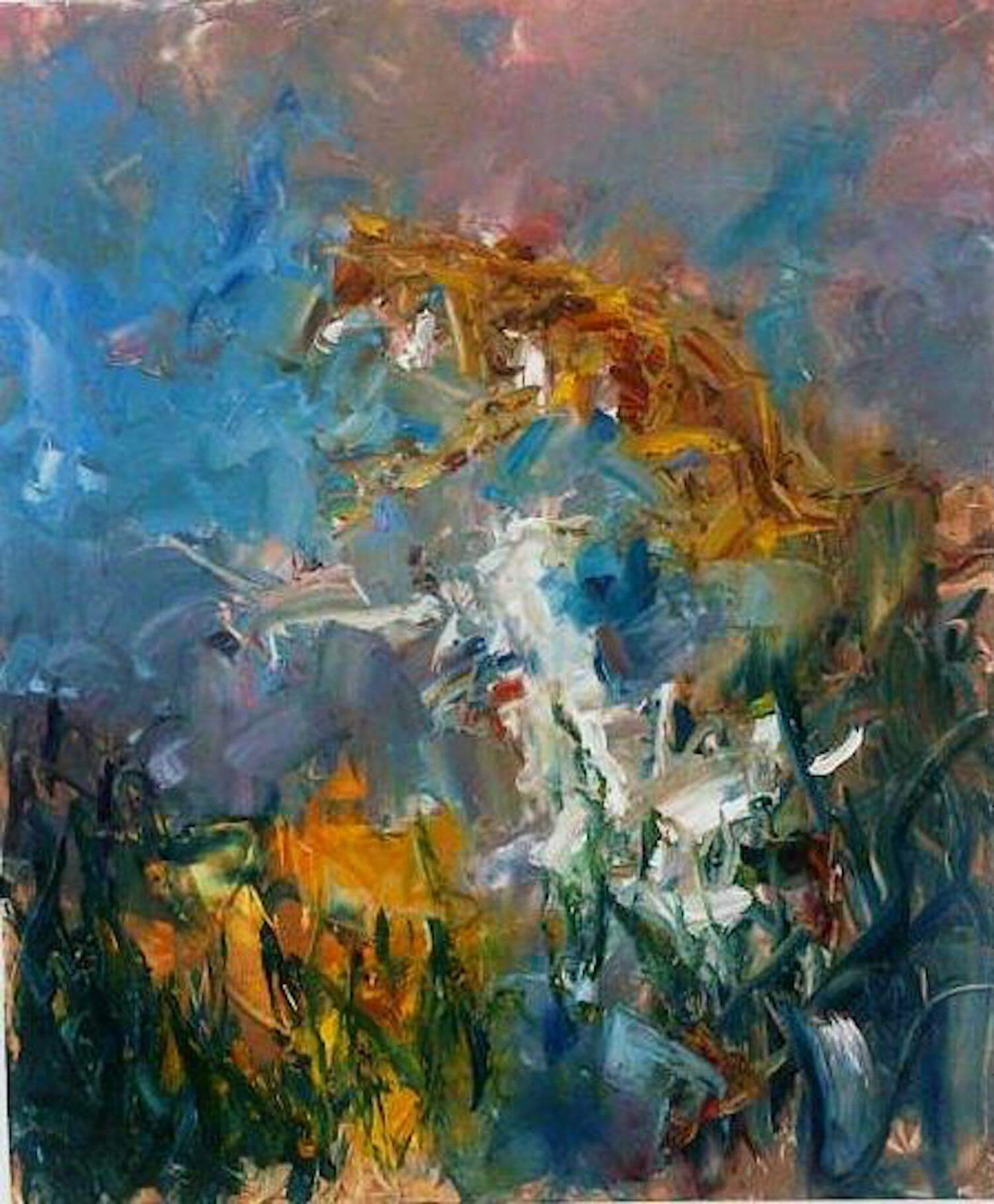 Myth of the mountain flying beast 2011 H180x150cm oil canvas
