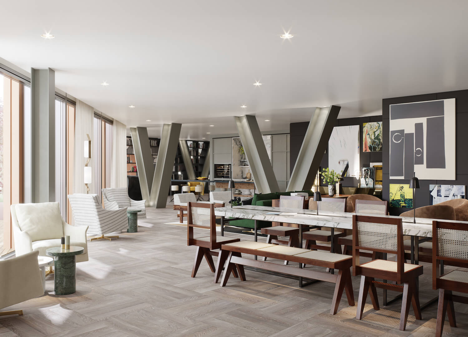 Gym at One Crown Place | Studio Ashby | est living