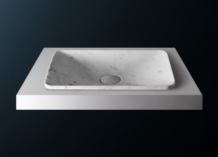 Rectangular Semi Inset Basin Rogerseller