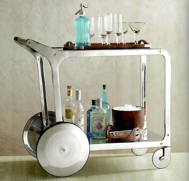 circa aluminum bar cart roost est living vif studio san francisco home