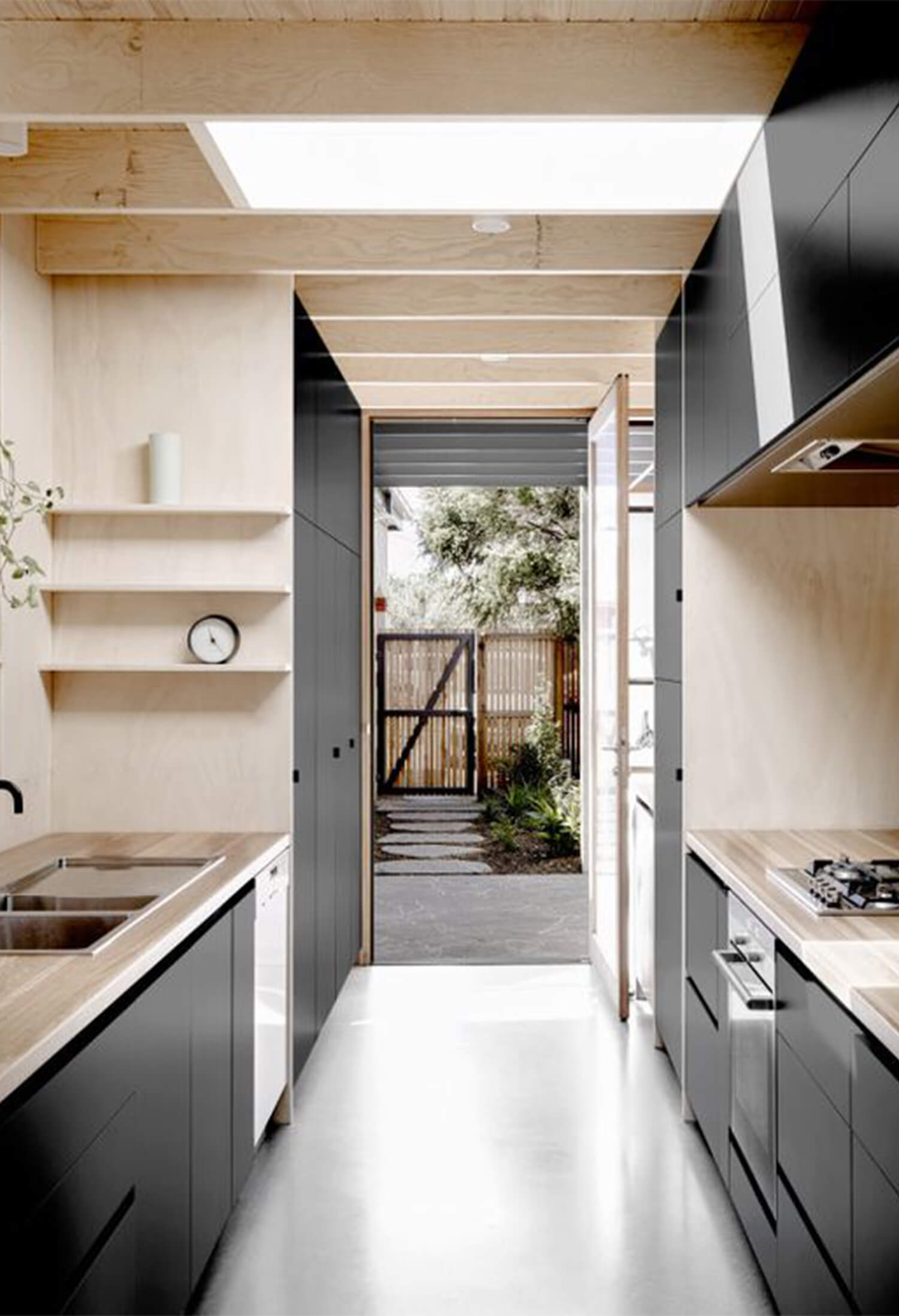 est living timber kitchens lees house rob kennon architects