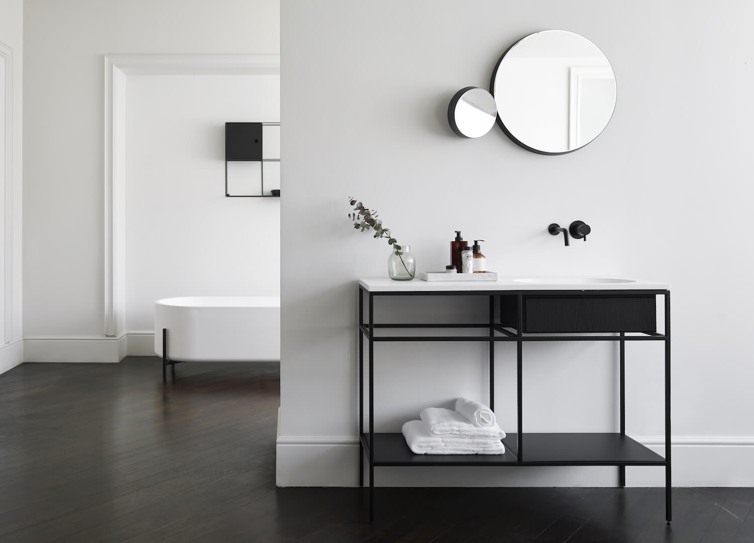 get the look statement bathrooms est living frame norm architects 1