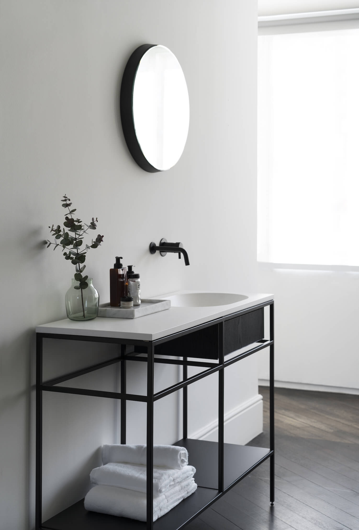 get the look statement bathrooms est living frame norm architects 2