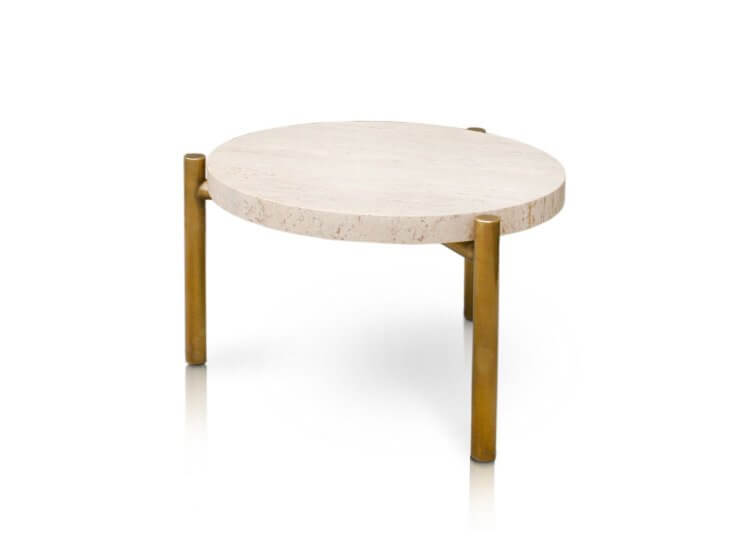 Travertine Side Table Spence and Lyda
