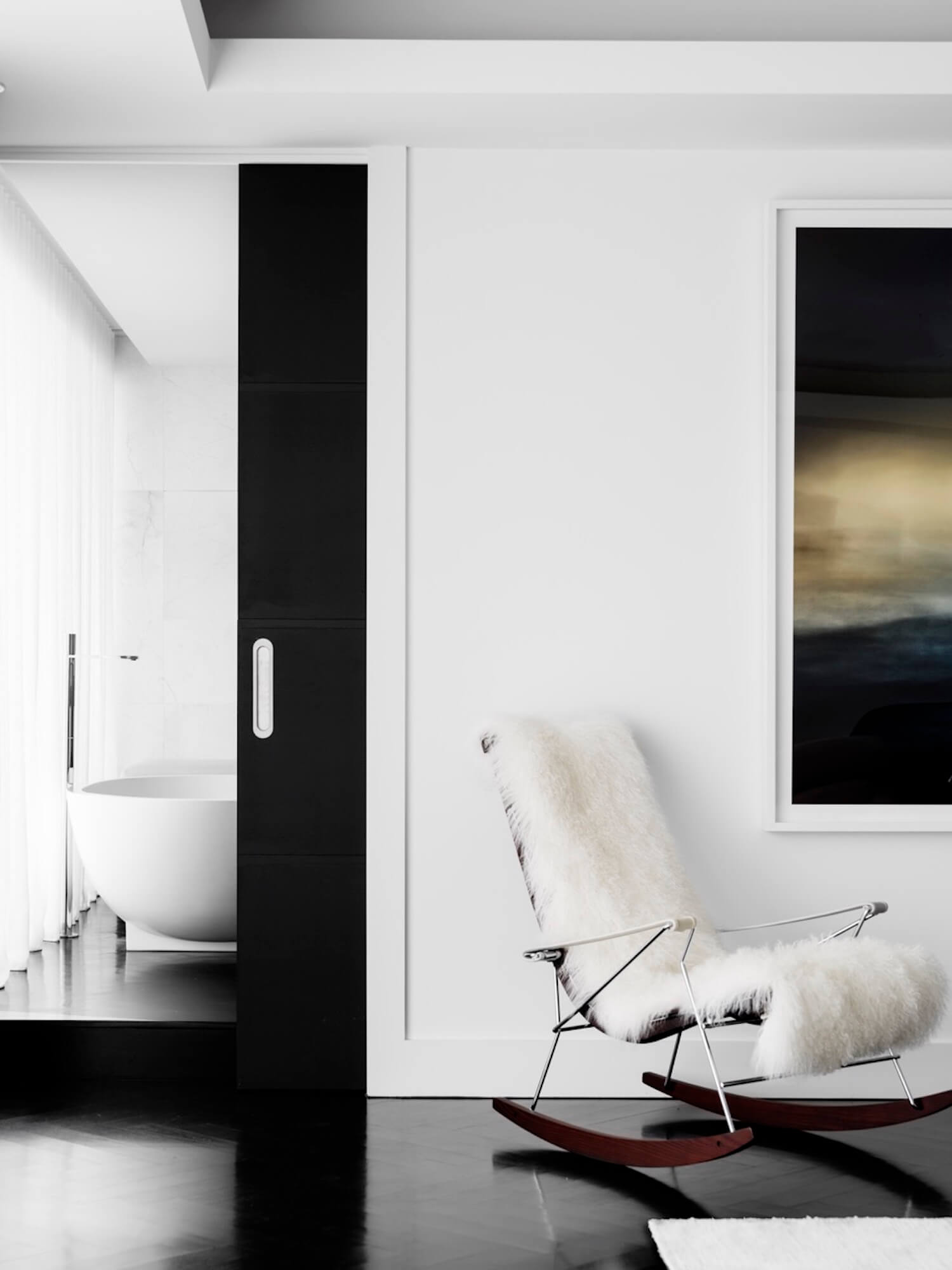 est living interiors monochrome house alwill interiors 12