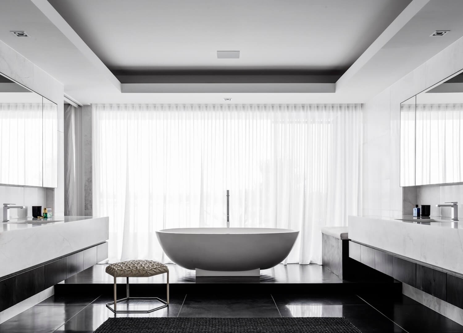 est living interiors monochrome house alwill interiors 13
