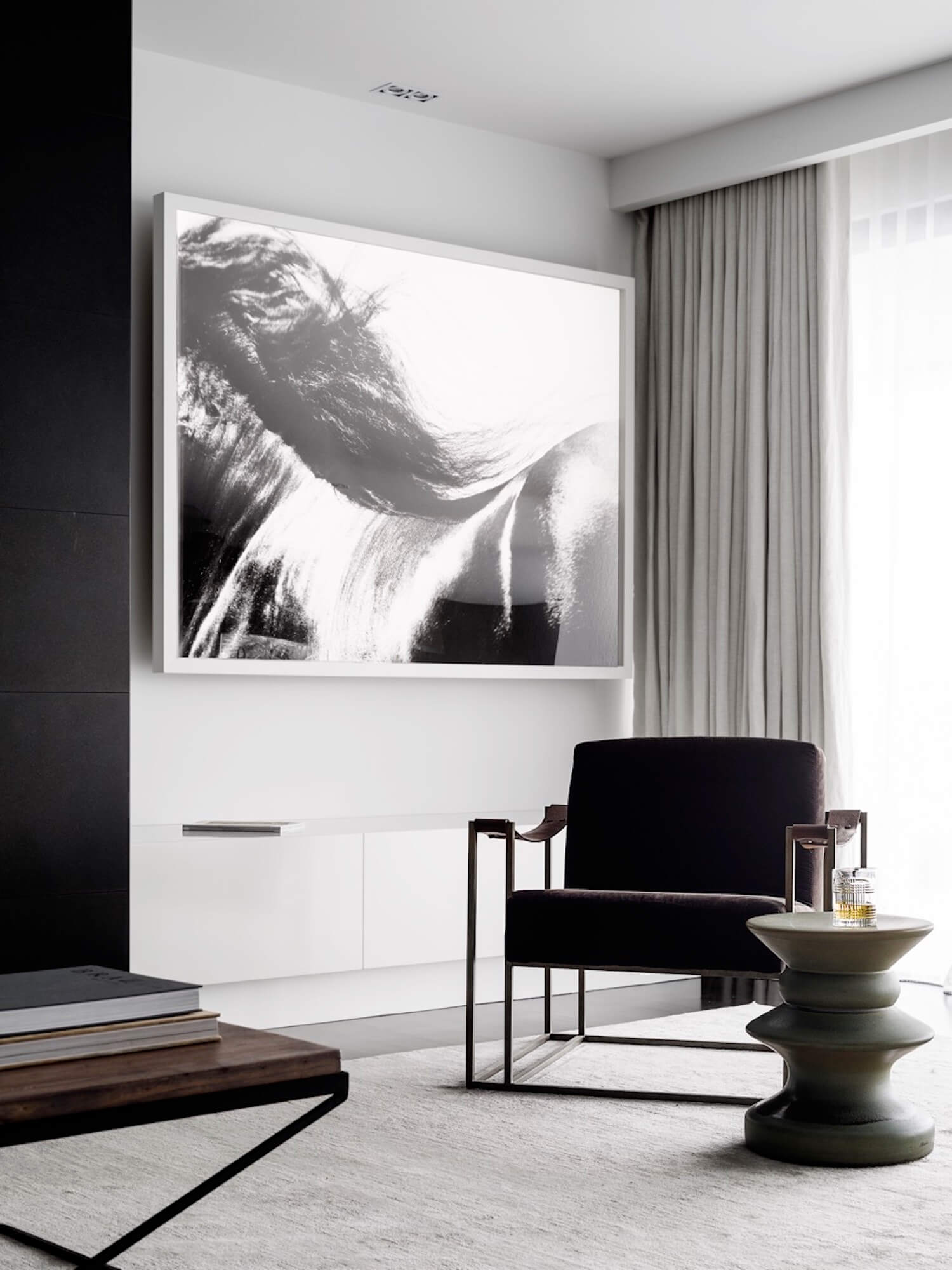 est living interiors monochrome house alwill interiors 6