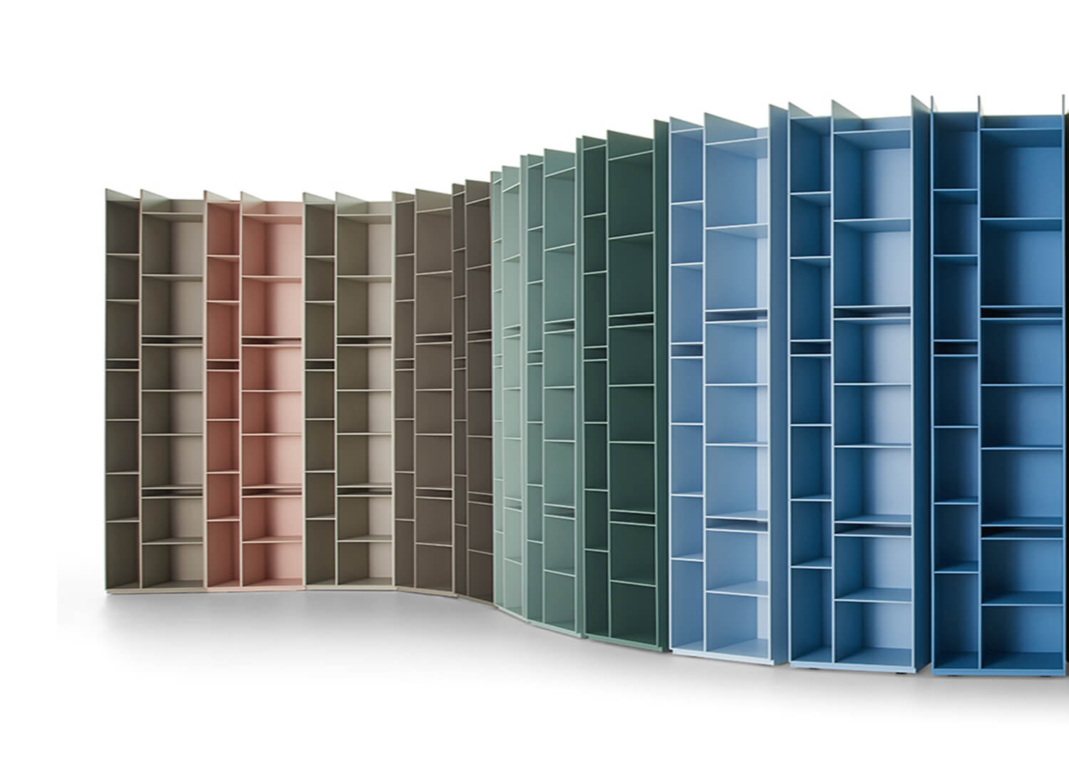 Random 2C Bookshelf MDF Italia colours