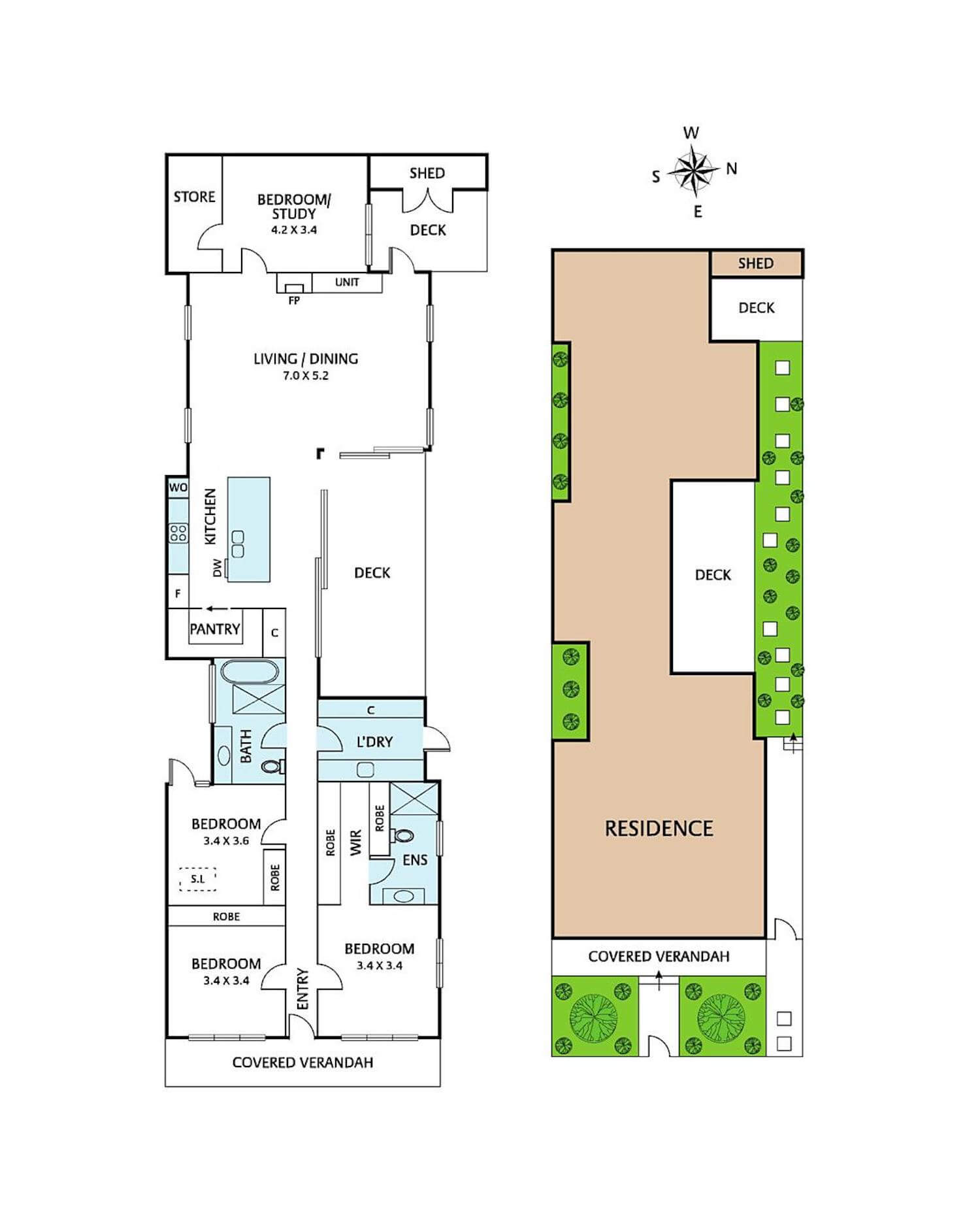 est living open house43 henry street northcote floorplan