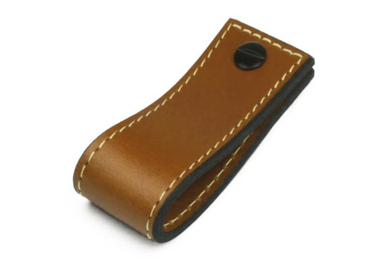 Leather Tab Long