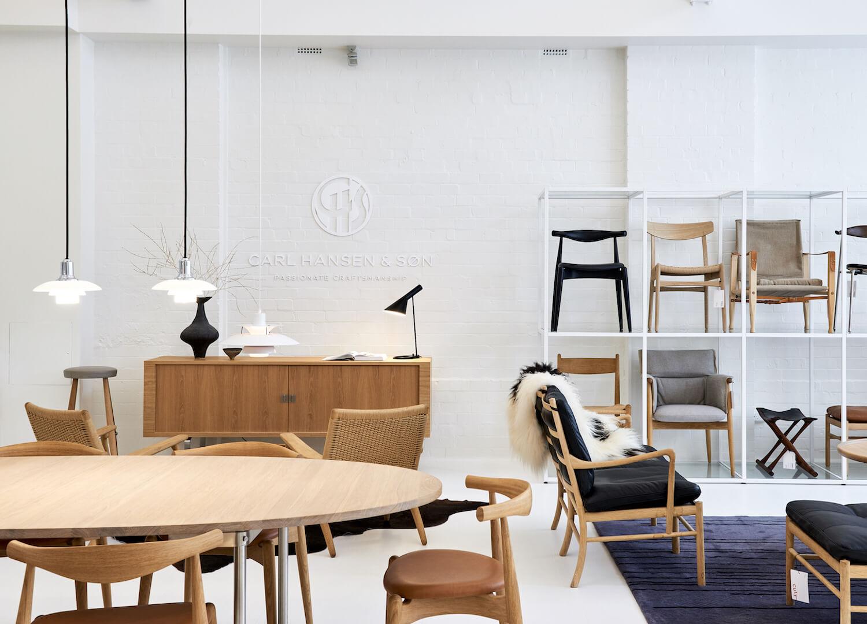 est living interiors commercial Cult Showroom Carl Hansen and Son 3