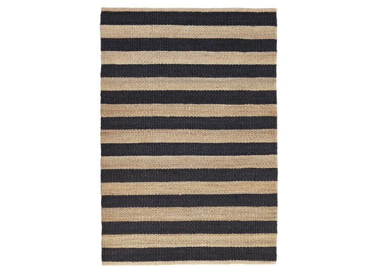 Nest Awning Stripe Rug - Charcoal Armadillo & Co