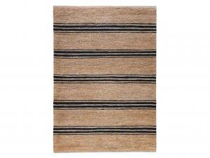 River Ticking Stripe Rug – Natural & Indigo