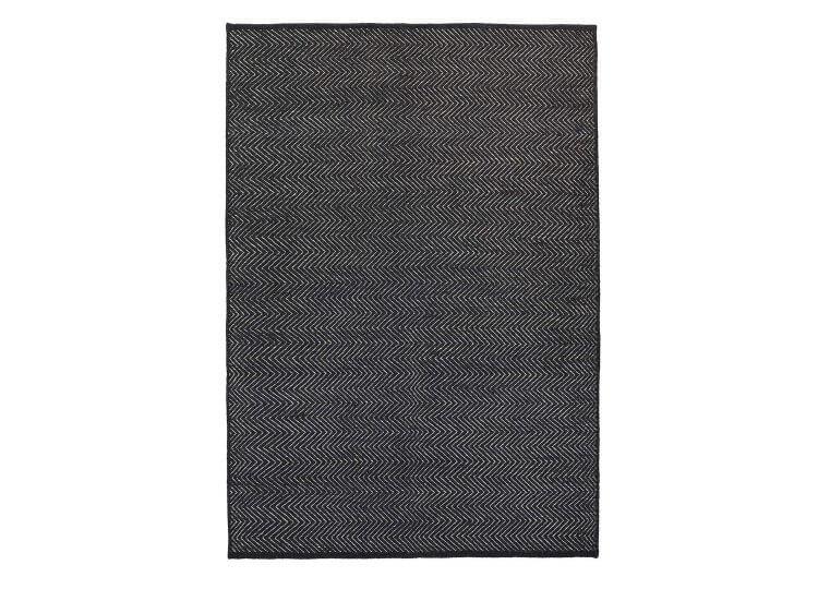 Herringbone Rug - Charcoal & Limestone Armadillo & Co