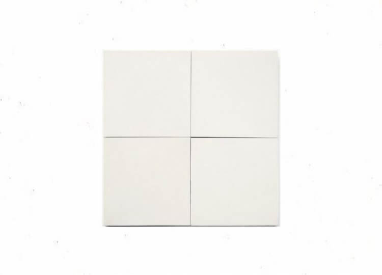 White Solid Square Tile